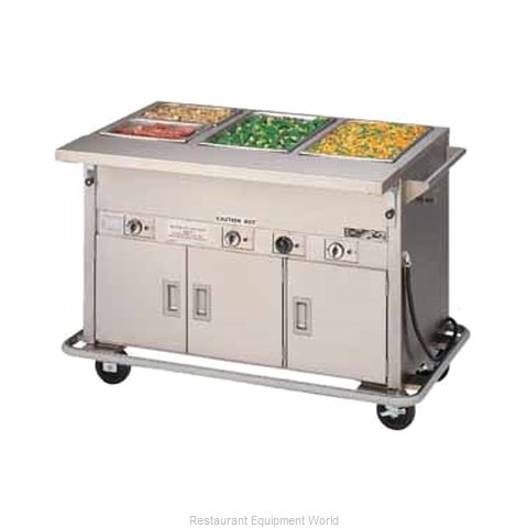 Piper Products DME-3-PTS-BH Serving Counter Hot Food Steam Table Electric