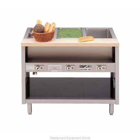 Piper Products DME-3-SS Serving Counter Hot Food Steam Table Electric