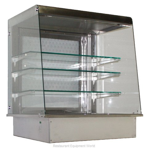 Piper Products OTA-3 Display Case, Non-Refrigerated, Drop In