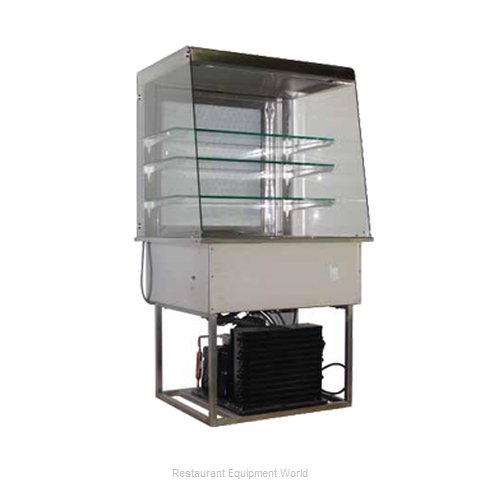 Piper Products OTR-2-R Display Case Refrigerated Merchandiser Drop-In