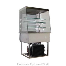 Piper Products OTR-3 Refrigerated Merchandiser, Drop-In