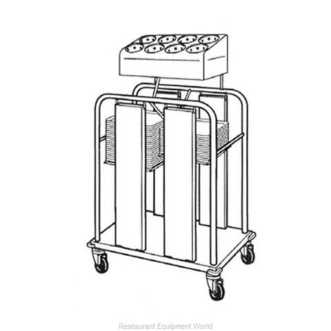 Piper Products PTS/1216MO2 Tray and Silverware Dispenser