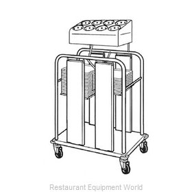 Piper Products PTS/1222MO2 Flatware & Tray Cart