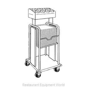 Piper Products PTS/915MO Flatware & Tray Cart