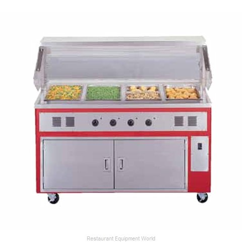 Piper Products R4-HF Serving Counter Hot Food Steam Table Electric