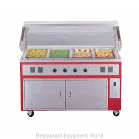 Piper Products R4-HF Serving Counter, Hot Food, Electric