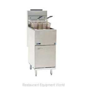 Pitco 35C+SS Fryer Floor Model Gas Full Pot