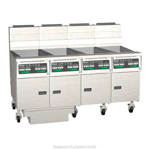 Pitco 4-SG14C-S/FD Fryer Battery Gas