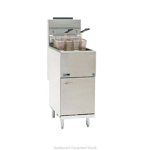 Pitco 45C+SS Fryer Floor Model Gas Full Pot