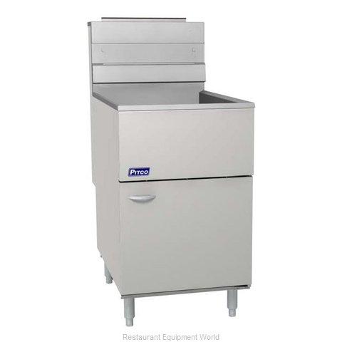 Pitco 65C+S Fryer Floor Model Gas Full Pot