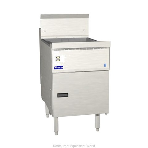 Pitco FBG18-SSTC Fryer Floor Model Gas Full Pot (Magnified)
