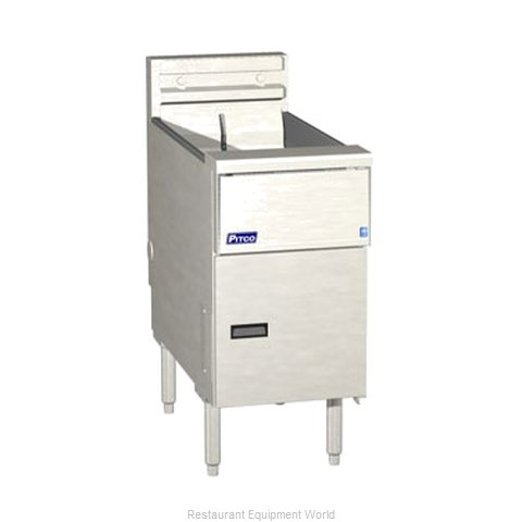 Pitco SE14-SSTC-S Fryer Floor Model Electric Full Pot