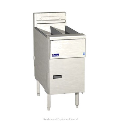 Pitco SE14T-SSTC-S Fryer Floor Model Electric Split Pot