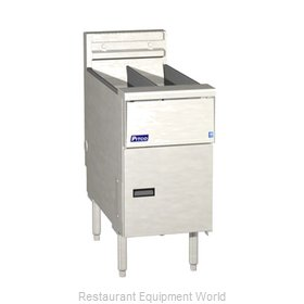 Pitco SE14TR-SSTC-S Fryer Floor Model Electric Split Pot