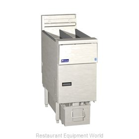 Pitco SE14TRS-1FD Fryer, Electric, Floor Model, Split Pot