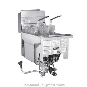 Pitco SG14DI Fryer, Gas, Drop-In, Full Pot