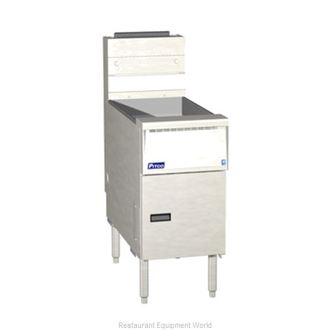 Pitco SG14RS-SSTC Fryer Floor Model Gas Full Pot