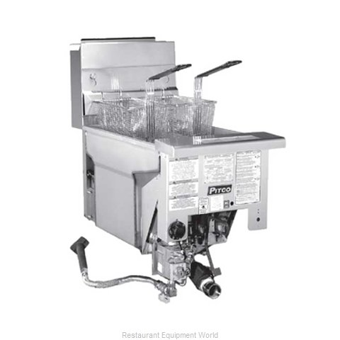 Pitco SG14TDI Fryer, Gas, Drop-In, Split Pot (Magnified)