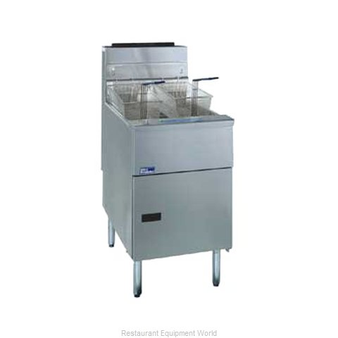 Pitco SG18-S Fryer Floor Model Gas Full Pot (Magnified)
