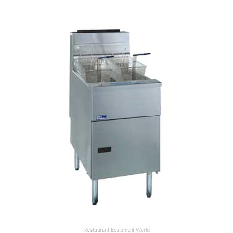 Pitco SG18S-SSTC Fryer Floor Model Gas Full Pot (Magnified)