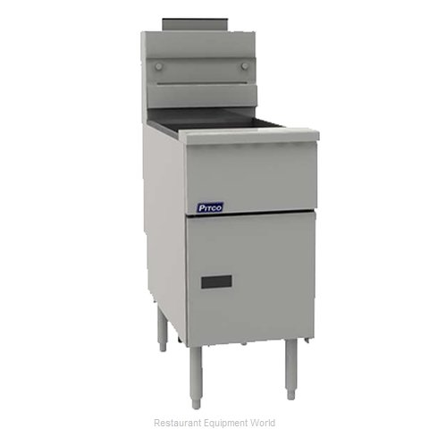 Pitco VF-35S Fryer, Gas, Floor Model, Full Pot (Magnified)