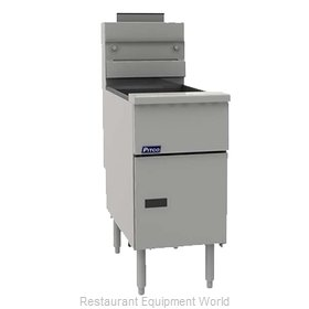 Pitco VF-65S Fryer, Gas, Floor Model, Full Pot