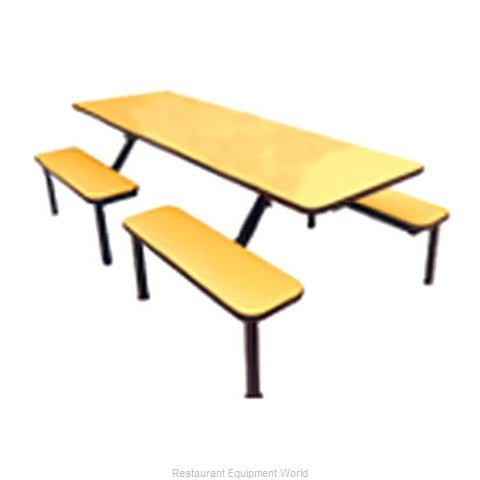 Plymold 132048VE Cluster Seating Bench Indoor