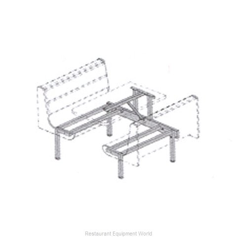 Plymold 50050S Booth Cluster Seating Support