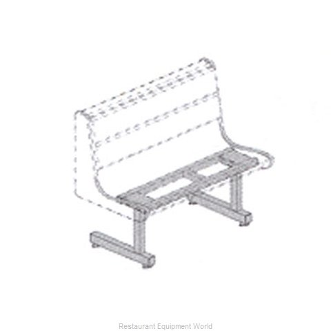 Plymold 51542D2 Booth Cluster Seating Support
