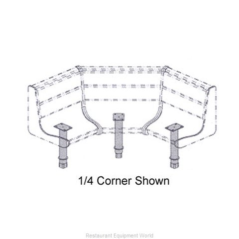 Plymold 51903D1 Booth Cluster Seating Support