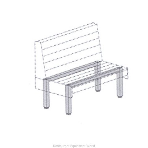 Plymold 522259S Booth Cluster Seating Support