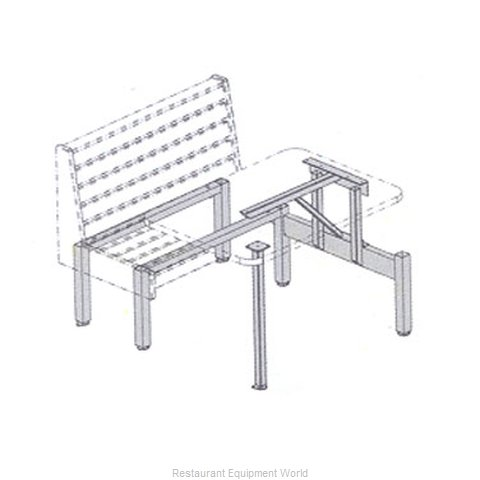 Plymold 52447S Booth Cluster Seating Support
