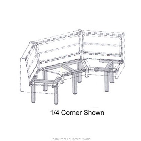 Plymold 527103D1 Booth Cluster Seating Support