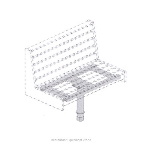 Plymold 52823D2 Booth Cluster Seating Support