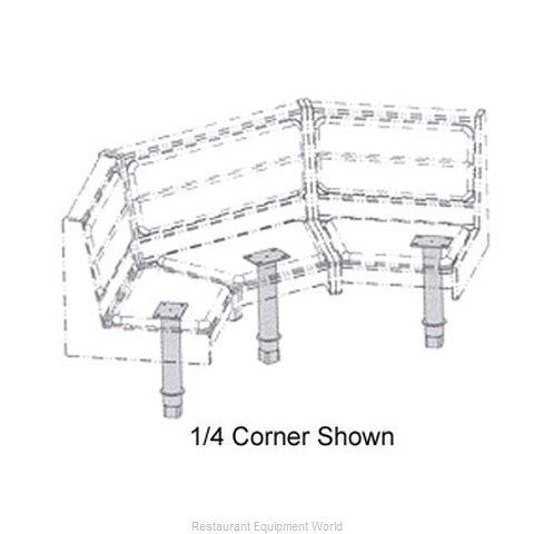 Plymold 53900S Booth Cluster Seating Support