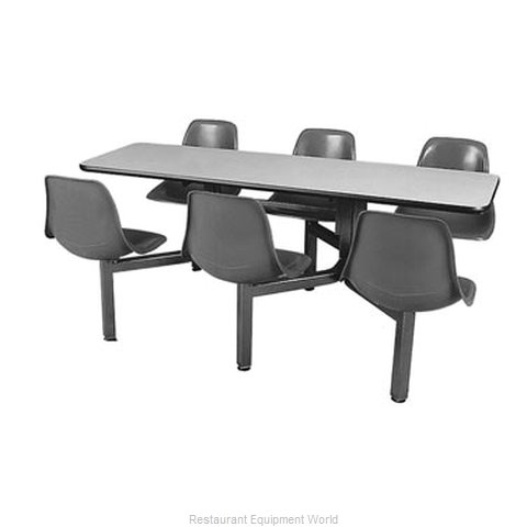 Plymold 5500630S Booth Cluster Seating Support