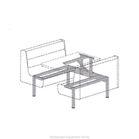 Plymold 57850D2 Booth Cluster Seating Support
