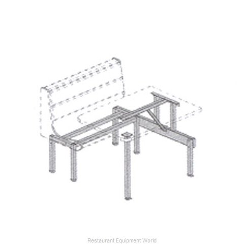 Plymold 57950S Booth Cluster Seating Support