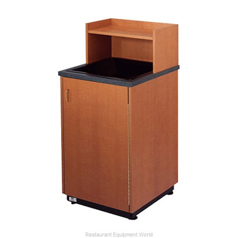 Plymold 80109DE Trash Receptacle, Cabinet Style (Magnified)