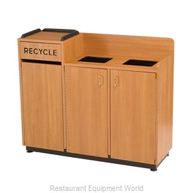 Plymold 80140 Trash Receptacle, Cabinet Style