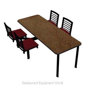 Plymold CEIS004VELAADA Cluster Seating Unit, Indoor