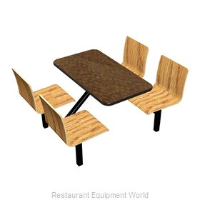 Plymold JURE004VELE Cluster Seating Unit, Indoor