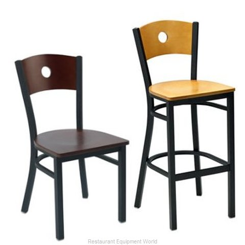 Premier Hospitality Furniture 250-BH-BK-NN Metal Bar Stool (Magnified)