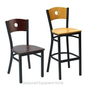 Premier Hospitality Furniture 250-BH-BK-NN Metal Bar Stool