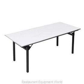 PS Furniture 600-3672A-PAD Folding Table, Rectangle