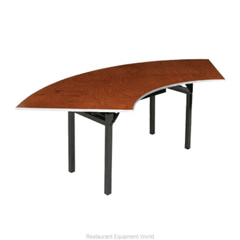 PS Furniture 600-3X8A Folding Tables Crescent Serpentine