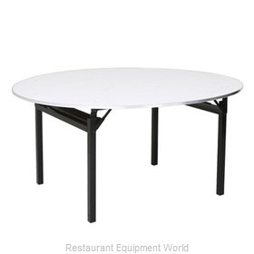 PS Furniture 600-48DIA-PAD Folding Table, Round