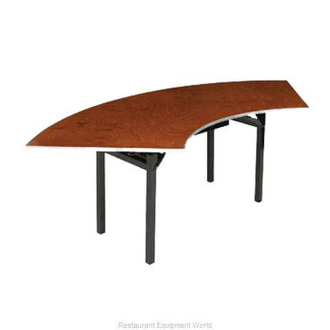 PS Furniture 600-4X9A Folding Tables Crescent Serpentine