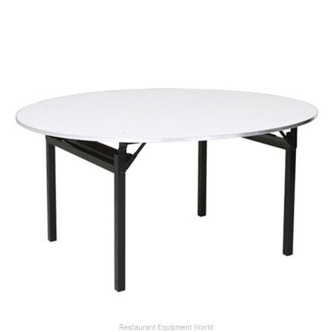 PS Furniture 600-72SCA-PAD Folding Table Round