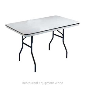 PS Furniture B3048 Folding Table, Rectangle